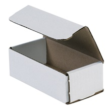 "6 x 3 <span class='fraction'>5/8</span> x 2"" White Corrugated Mailers"